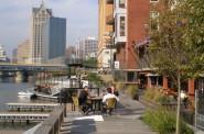 The Milwaukee Riverwalk.