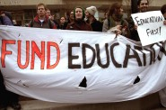 Protest over cuts to education. Photo taken by Brian Jacobson in February 2011.