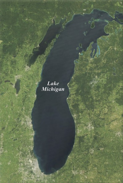 Lake Michigan basin. Image: U.S. Geological Survey