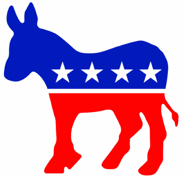 DemocraticLogo by Source. Licensed under Fair use via Wikipedia.