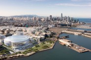 San Francisco Arena - Southwest Aerial. Design by MANICA Architecture.