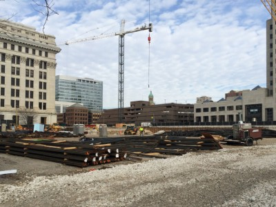 Friday Photos: The Northwestern Mutual Tower Begins