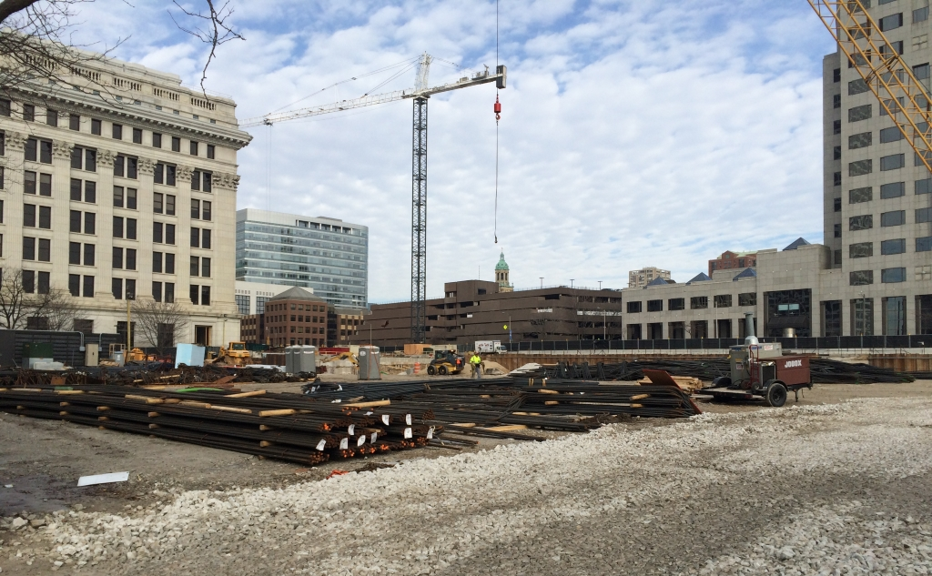 Northwestern Mutual Tower and Commons construction site. Photo by Jeramey Jannene.