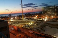 Saturday morning during the pour. Photo courtesy of Northwestern Mutual.