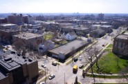 The near west side as seen from the roof of the Milwaukee Academy of Sciences, 2000 W. Kilbourn Ave. (Photo by Adam Carr)