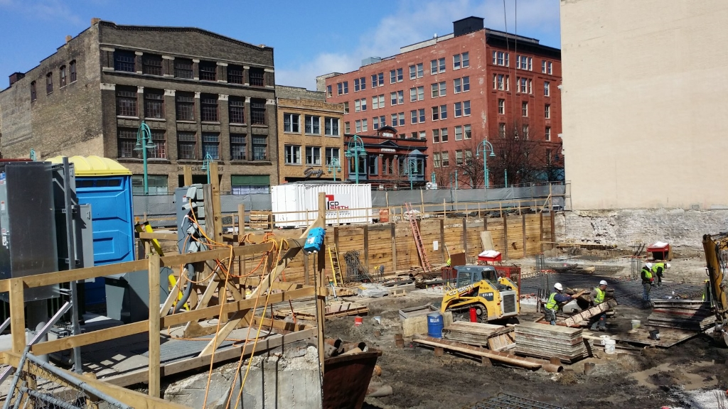 Work started on the Kimpton Hotel in December 2014. Photo by Jack Fennimore..