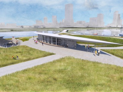 Visitor and Education Center on Lakeshore State Park