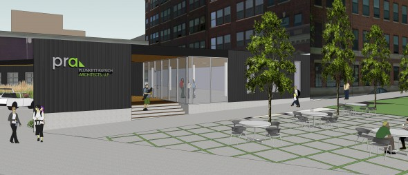 Plunkett Raysich Architects New Office Rendering. Rendering by Plunkett Raysich Architects, LLP.