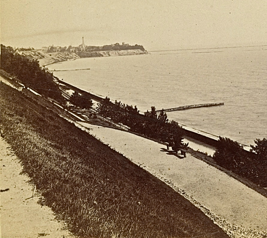 Lakefront Looking North, 1880s