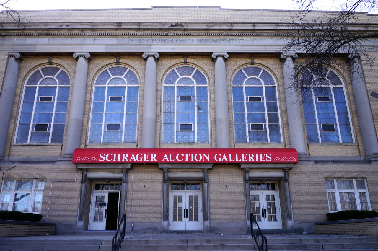 The Schrager Auction Galleries building, located at 2915 N. Sherman Blvd., has been closed since 2010. Photo by Adam Carr.