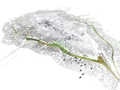 Aerial Model of the Atlanta BeltLine.