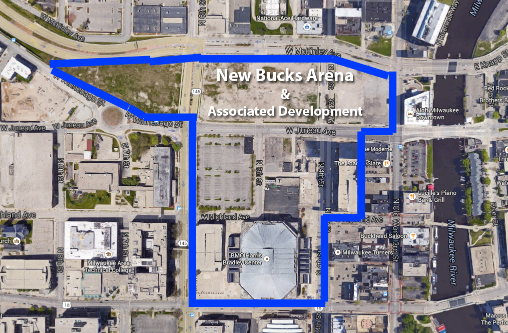 Bucks Arena Site Map