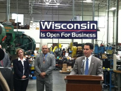 Career Politician Scott Walker, Addressing State Big Biz Lobby Before Holding Fundraiser for Himself, Reports 'Interest' in Re-Election Bid