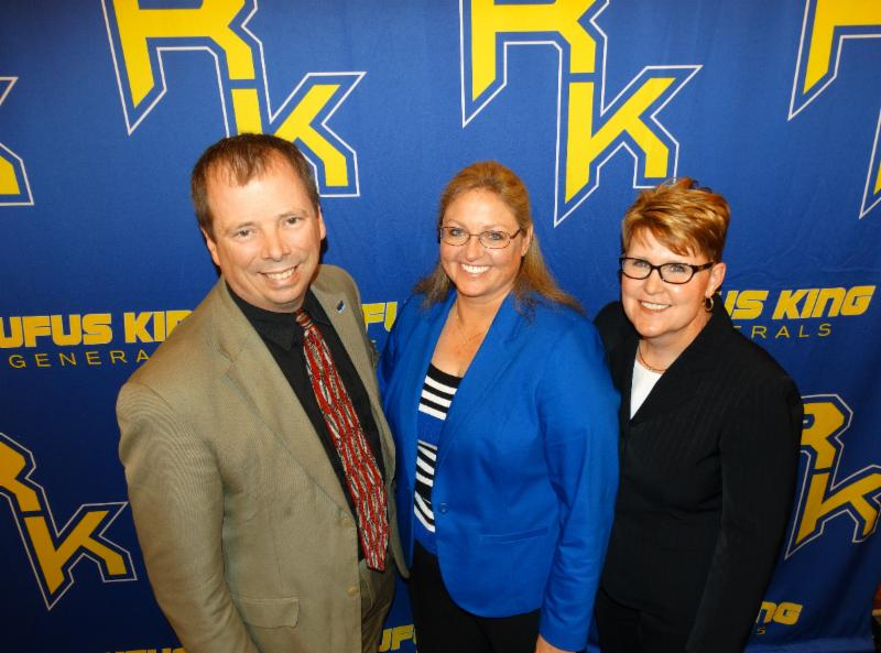 (left to right): Brett Fuller, MPS curriclum specialist for health, physical education and Safe and Supportive Schools; Kathleen Dreyer, health teacher at MPS' Rufus King International High School and 2015 WHPE health Teacher of the Year; and King High Principal Dr. Jennifer Smith