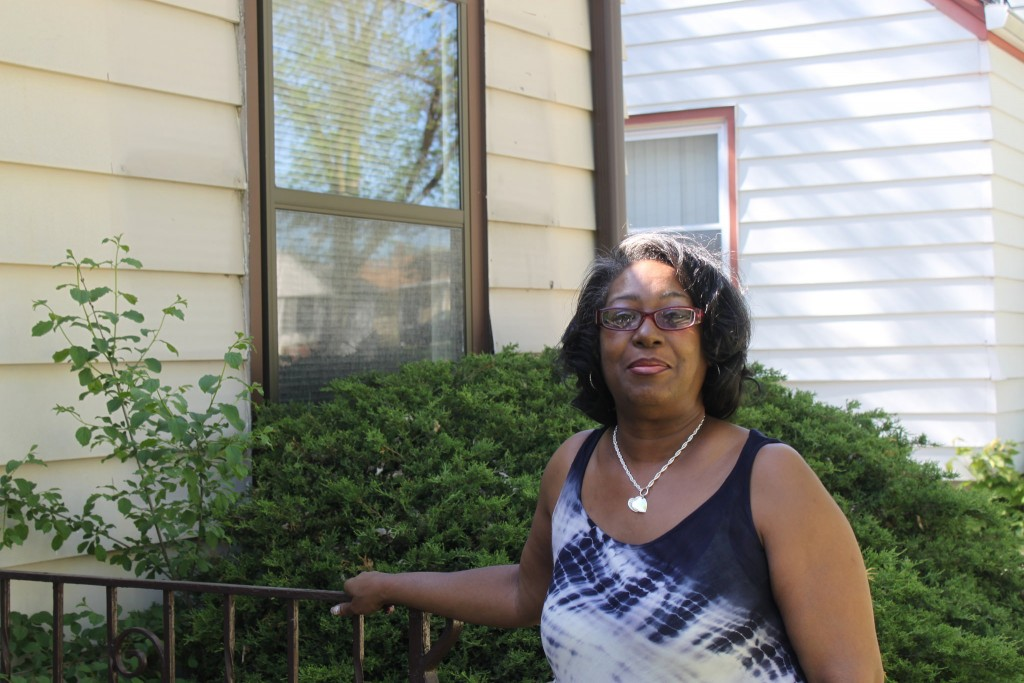 Charmion Herron didn't see home ownership in her future until a city program that sells foreclosed homes gave her the opportunity. Photo by Matthew Wisla.
