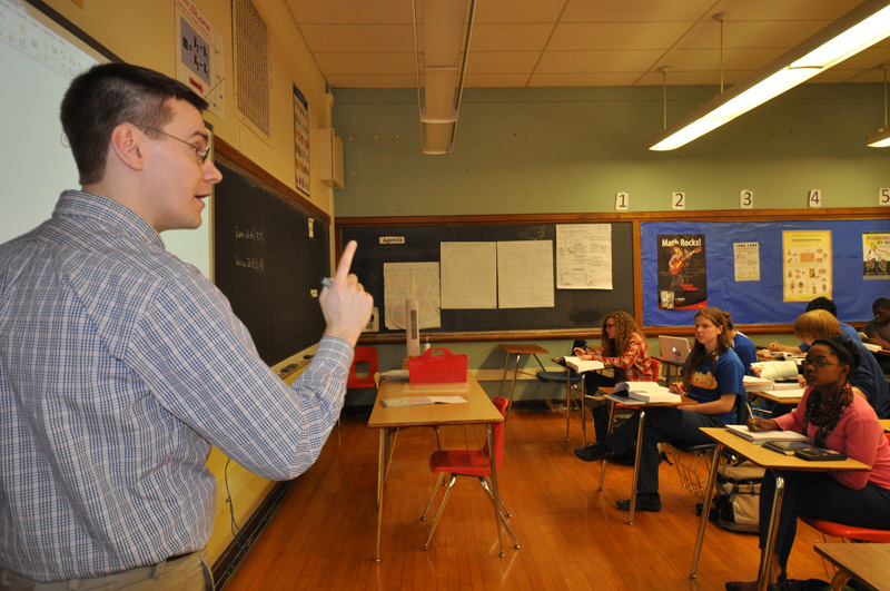 Students in class at Rufus King High School. Photo courtesy of MPS.