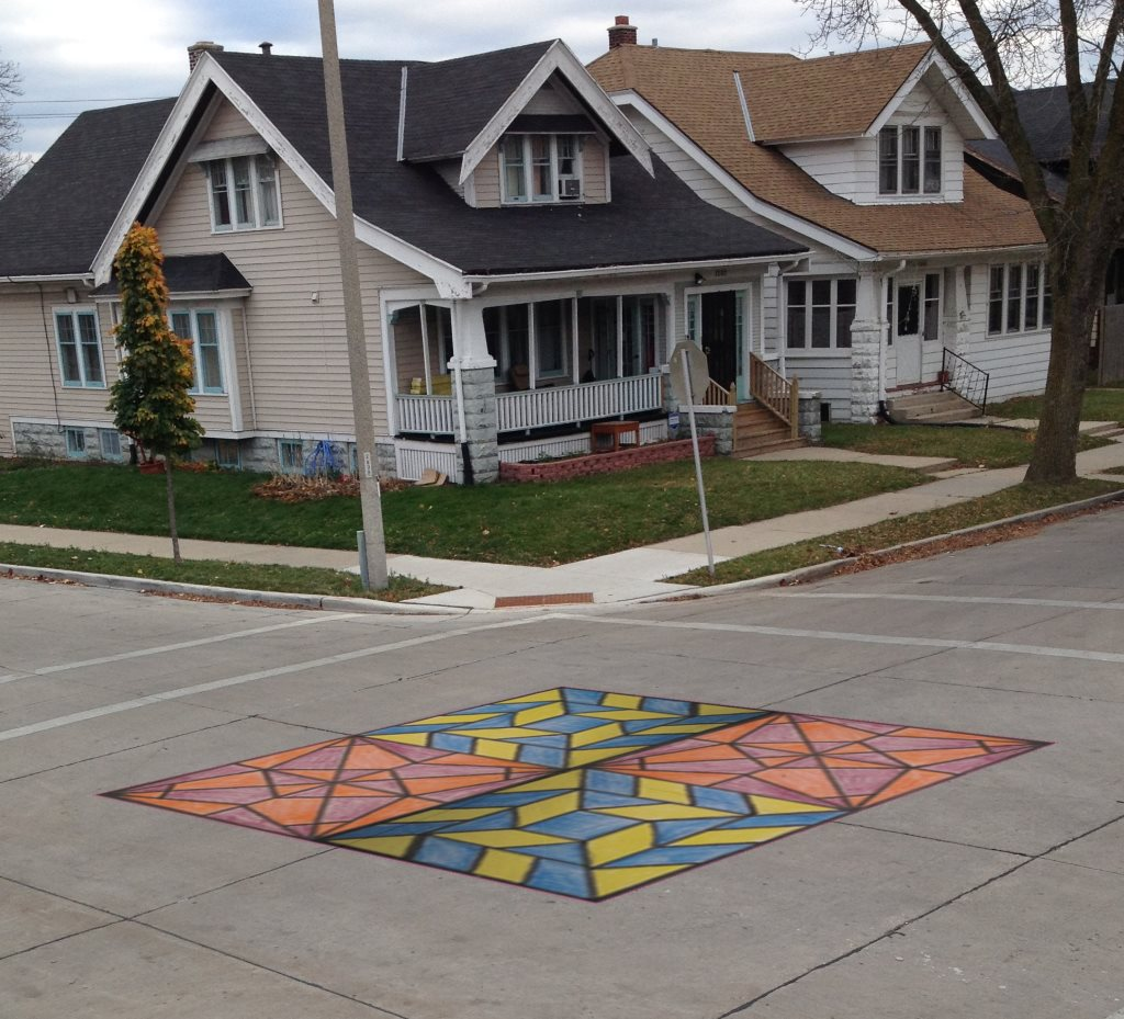 Students create intersection mural for their neighborhood and learn civic engagement