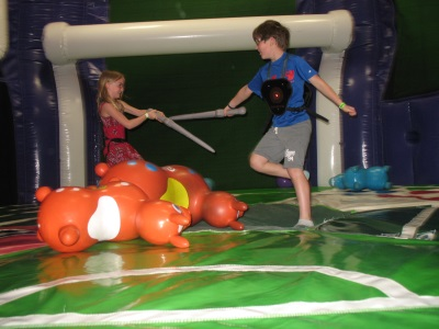Playing MagneTag at Bounce Milwaukee. Photo courtesy of Bounce Milwaukee.