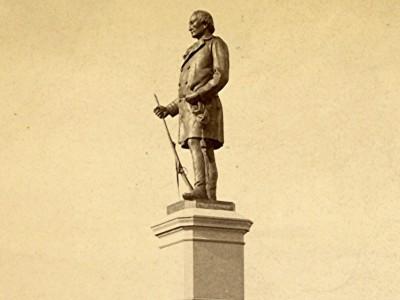 Yesterday's Milwaukee: Solomon Juneau Statue, Late 1880s