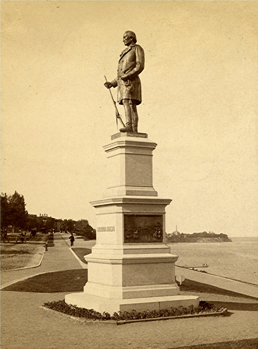 Solomon Juneau Statue, late 1880s. Image courtesy of Jeff Beutner.