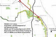 Map of the Oak Leaf Trail extension. Click the image for a larger view.