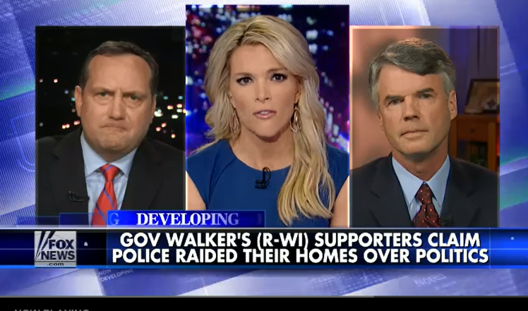 Michael Lutz (left) and Eric O'Keefe on Fox News with Megyn Kelly.