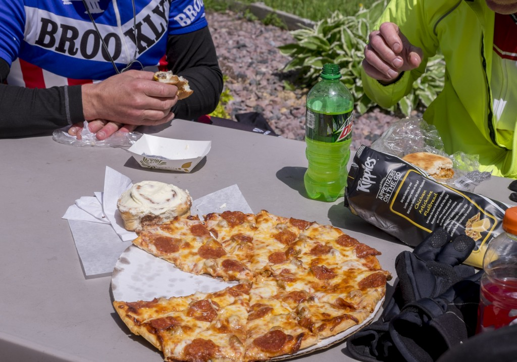 Turns out if you ride your bike 120 miles a day, you can eat a lot.