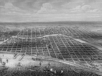 Yesterday's Milwaukee: View of Milwaukee,1856