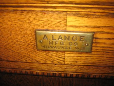 """""""A. LANGE MFG. CO. MILWAUKEE, WIS."""" Photo by Michael Horne."""