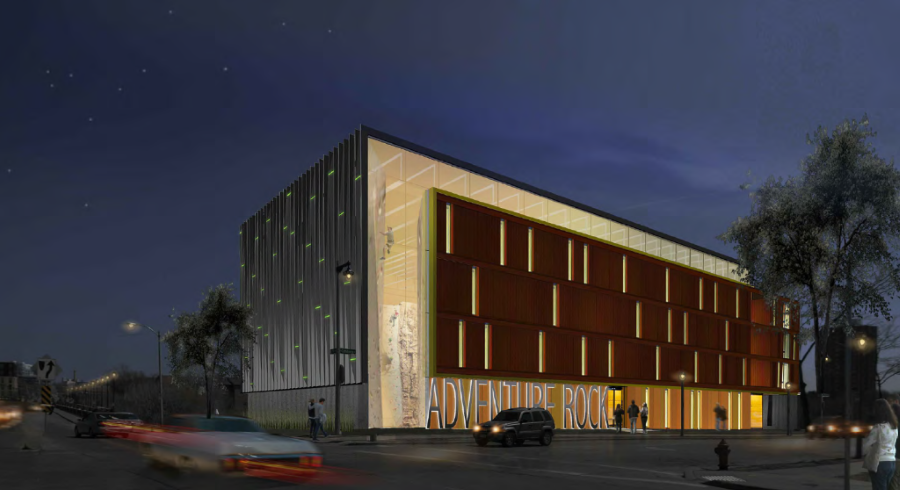 Mandel Group breaks ground on Adventure Rock climbing gymnasium and apartments