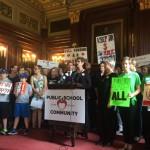 School advocates rally to restore K-12 funding cuts