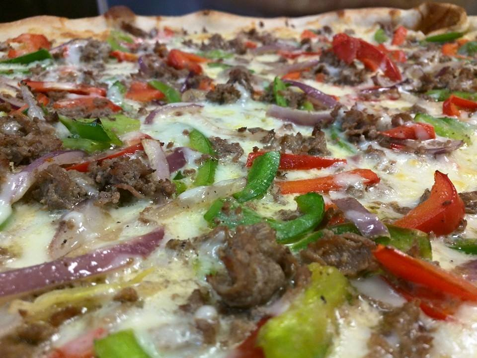 Philly Cheese Steak Pizza by Ian's Pizza By the Slice. Photo from Facebook.