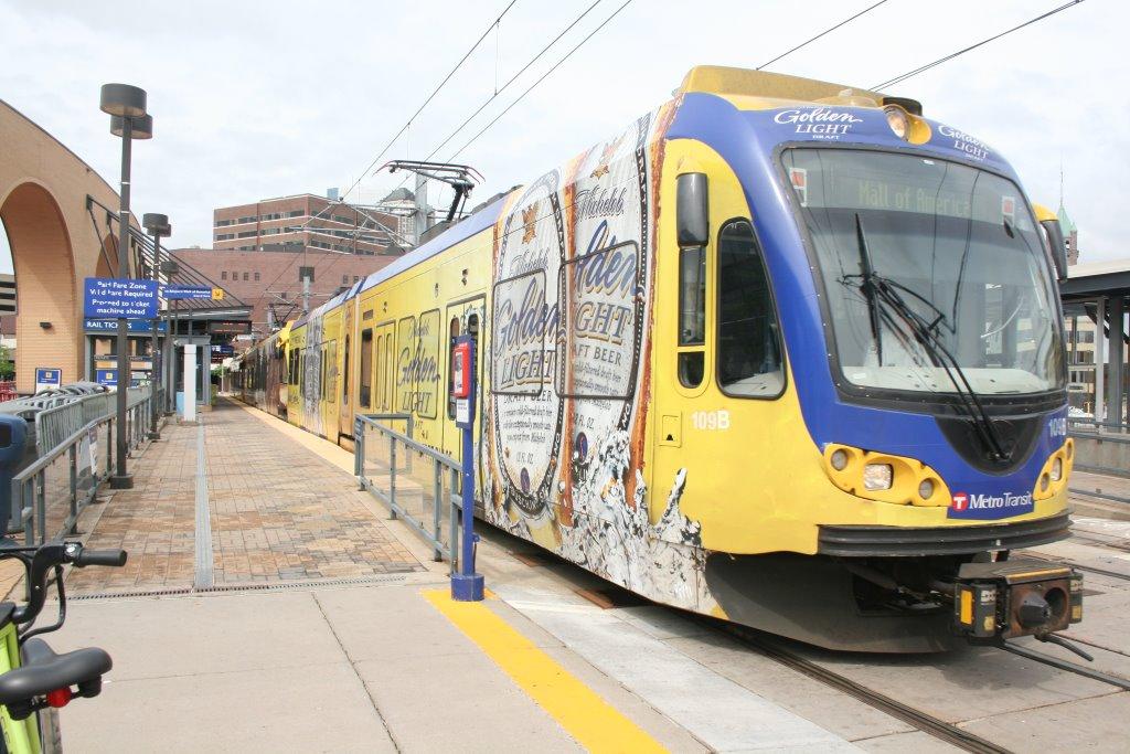MetroTransit light rail in Minneapolis. Photo by Jeramey Jannene.