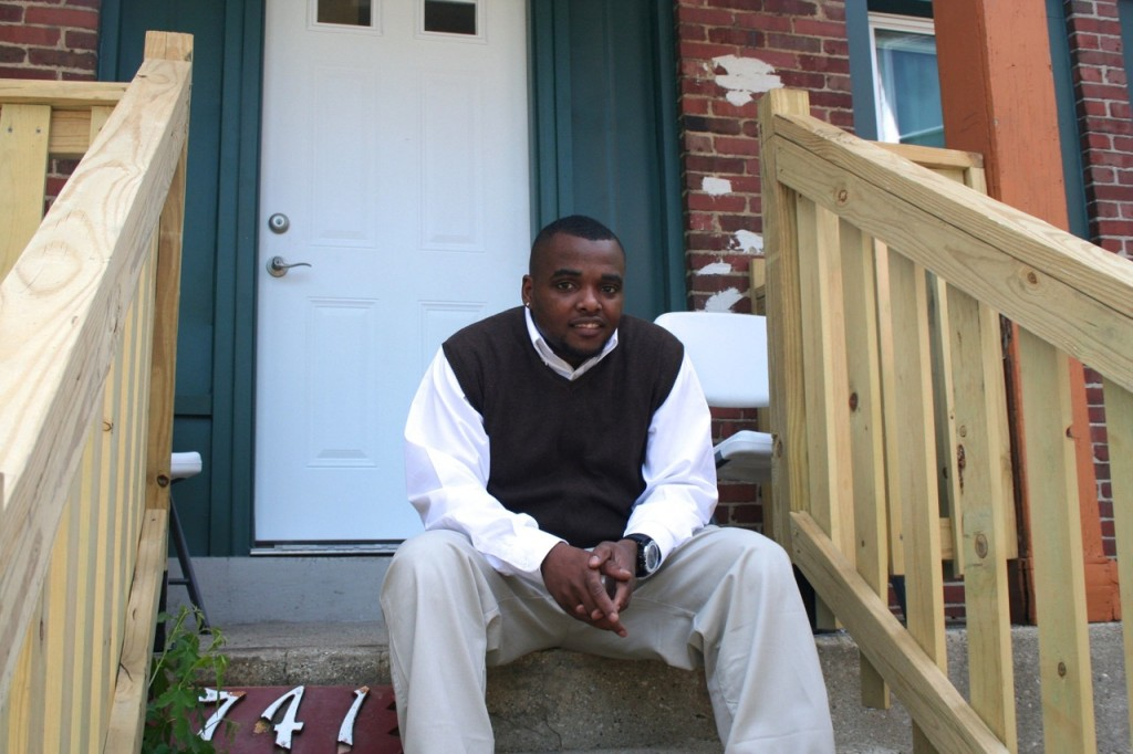 Wilton Johnson, who spent more than four years in foster care as a child, will serve as the Campus Housing Initiative's peer advisor at 741 S. 23rd St. Photo by Jabril Faraj.