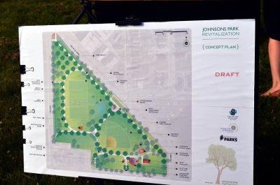 Johnsons Park plan. Photo by Jack Fennimore.