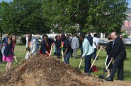 Johnsons Park groundbreaking. Photo by Jack Fennimore.