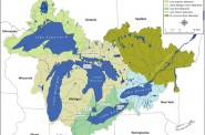Great Lakes watershed. Image: Great Lakes Commission