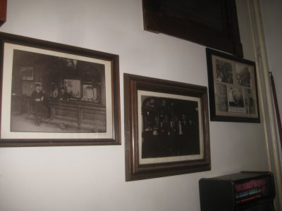 Photos line the walls of The Historic White House Tavern. Photo by Michael Horne.