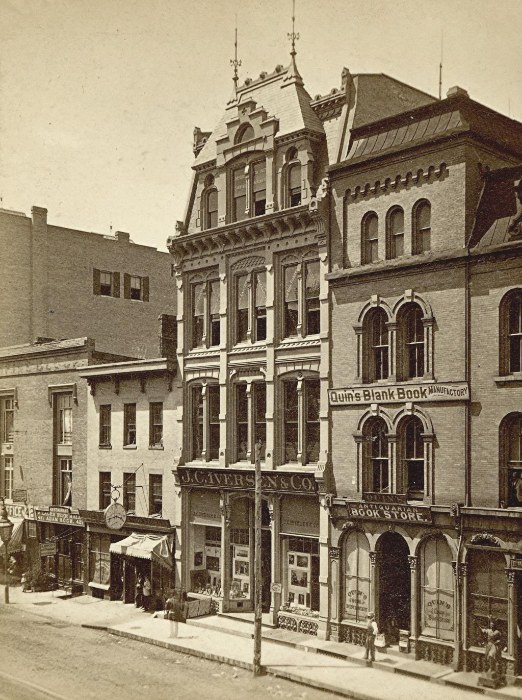 J.C. Iverson & Co. About 1879. Image courtesy of Jeff Beutner.