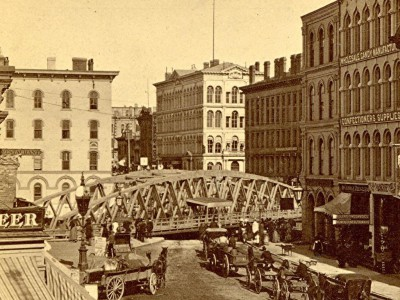 Yesterday's Milwaukee: Wisconsin Avenue Bridge, About 1880