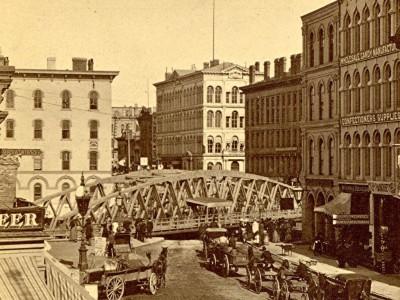 Yesterday's Milwaukee: Wisconsin Avenue Bridge, About 1880
