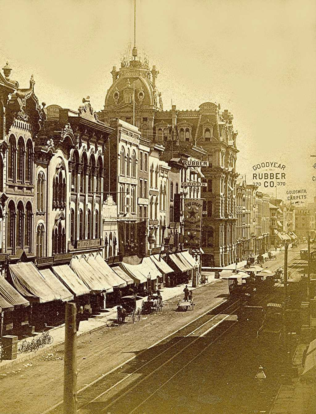 Water Street in 1880. Image courtesy of Jeff Beutner.
