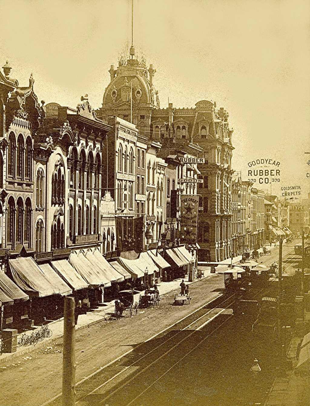 Water Street in 1880. Image courtesy of Jeff Beutner.