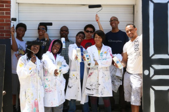 Painting with Purpose. Photo courtesy of the Volunteer Center of Greater Milwaukee.