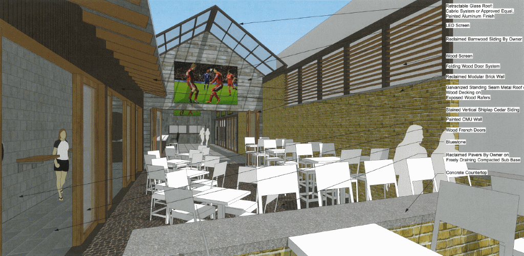 Nomad Beer Garden. Rendering by City Place Studio LLC.