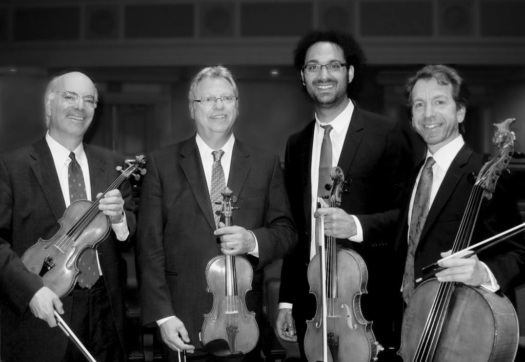 Fine Arts Quartet – violinists Ralph Evans and Efim Boico, violist Juan-Miguel Hernandez and cellist Robert Cohen