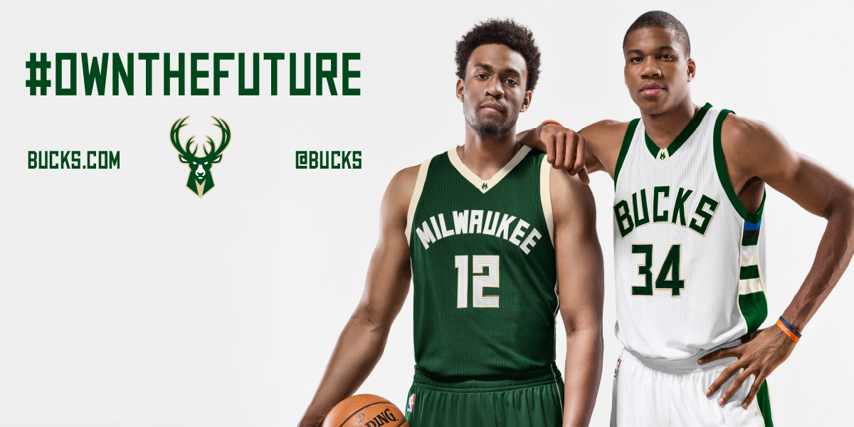 Jabari Parker and Giannis Antetokounmpo. Photo courtesy of the Milwaukee  Bucks.
