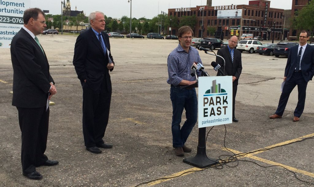 County Executive Chris Abele speaks as a press conference in 2014. Photo by Jeramey Jannene.