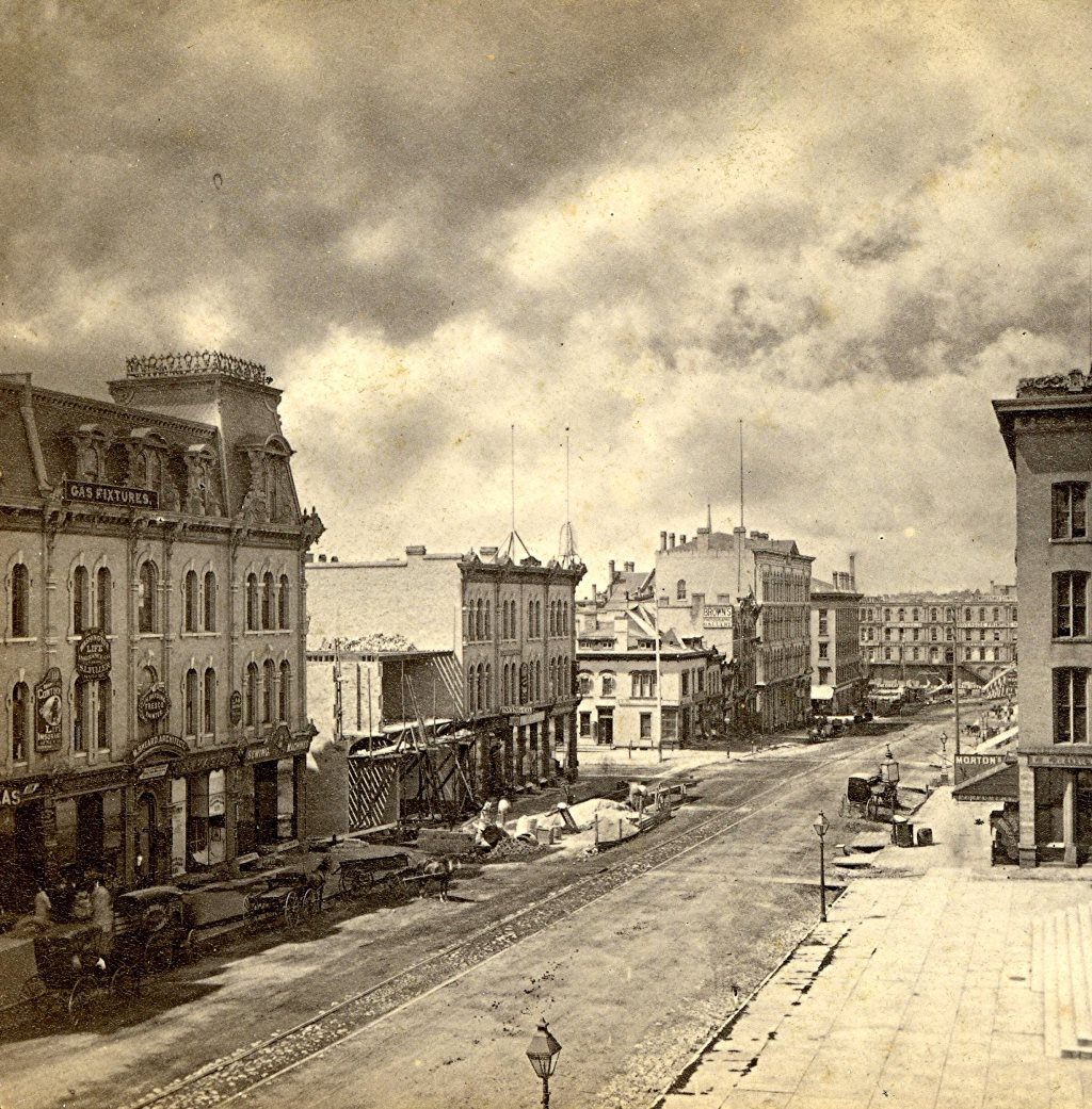Downtown Milwaukee, 1871. Image courtesy of Jeff Beutner.
