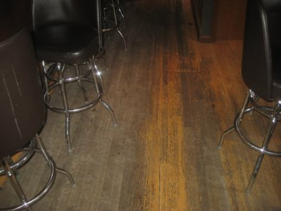 The floor at Finks. Photo by Michael Horne.